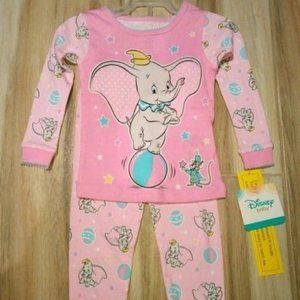 DISNEY Baby Girls Dumbo Pajamas Size 24 Months